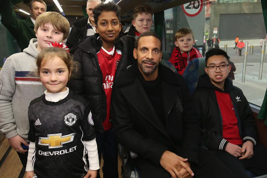 Rio Ferdinand on the Jumbulance
