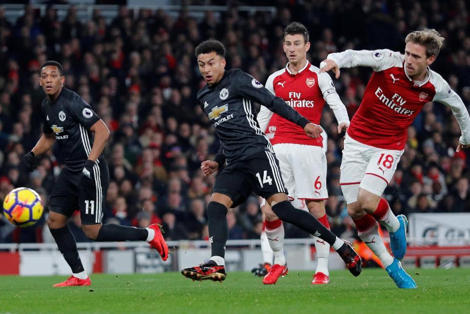 Arsenal v Manchester United - Jesse Lingard goal