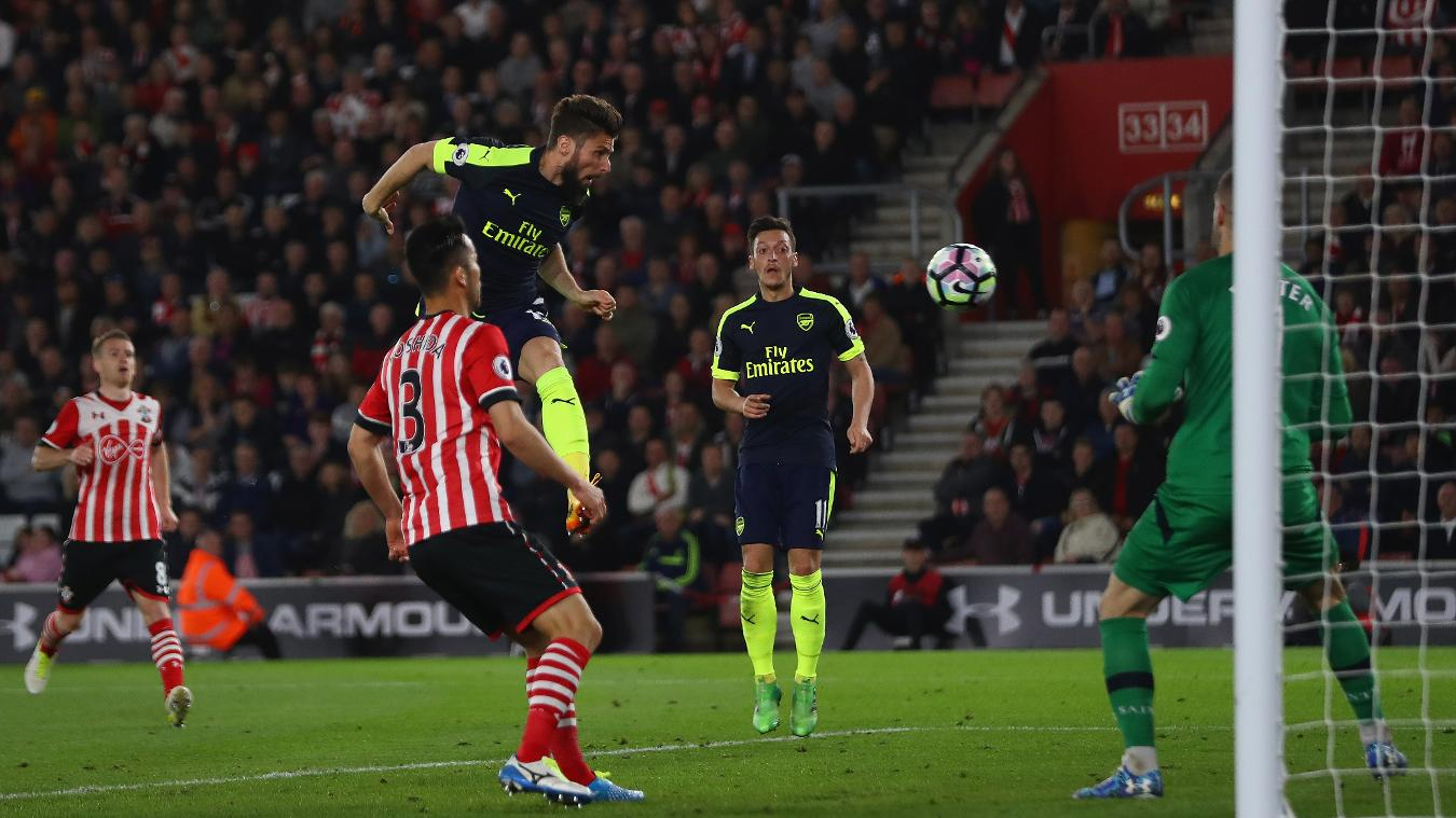 Southampton v Arsenal, 10 December