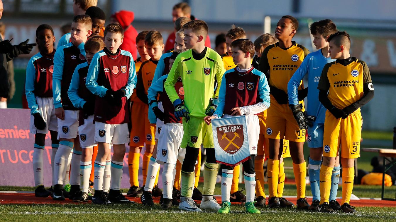 West Ham and Brighton players at Truce Tournament