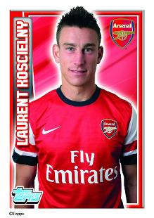 laurent koscielny topps football stickers arsenal