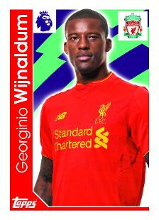 Georginio Wijnaldum Topps Football Stickers, Liverpool | Premier League