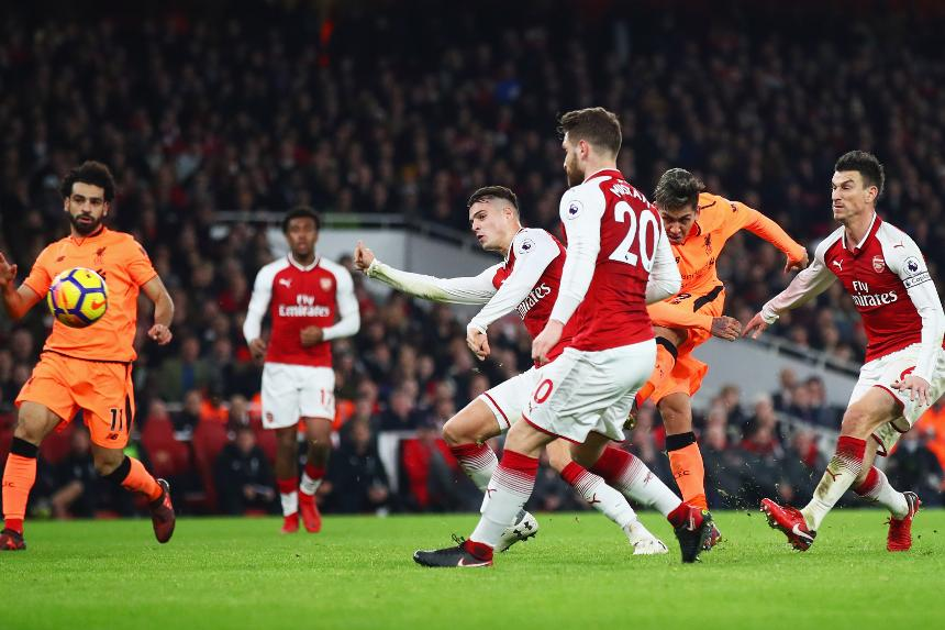 4113455c0fa Arsenal and Liverpool draw six-goal festive thriller