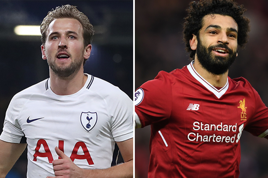 Harry Kane, Spurs, and Mohamed Salah, Liverpool