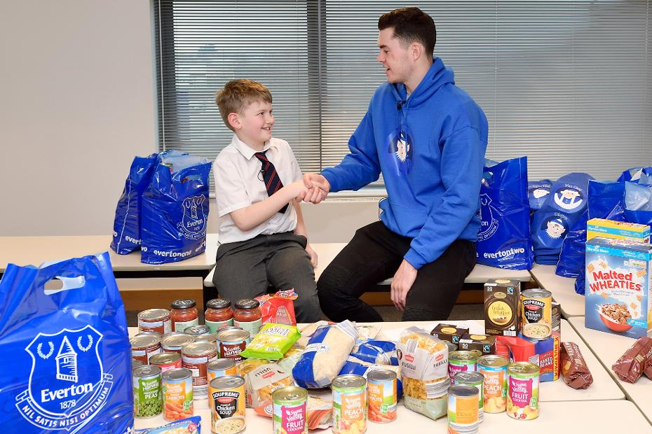 Alfie and Michael Keane Foodbank