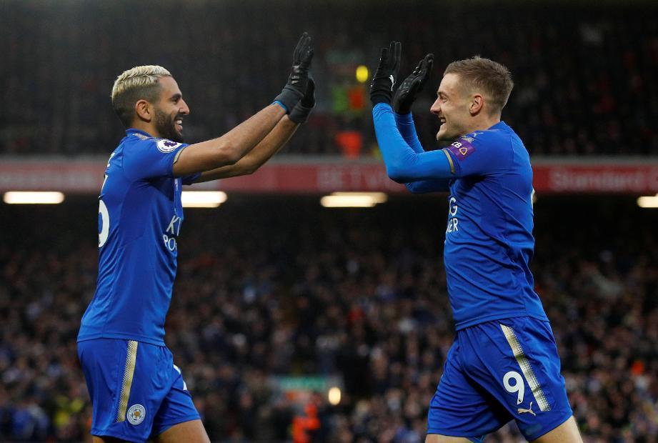 Riyad Mahrez and Jamie Vardy, Leicester