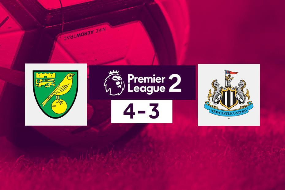 Norwich v Newcastle PL2 graphic
