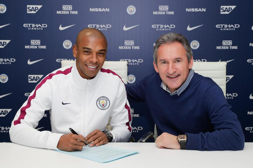 Fernandinho and Txiki Begiristain