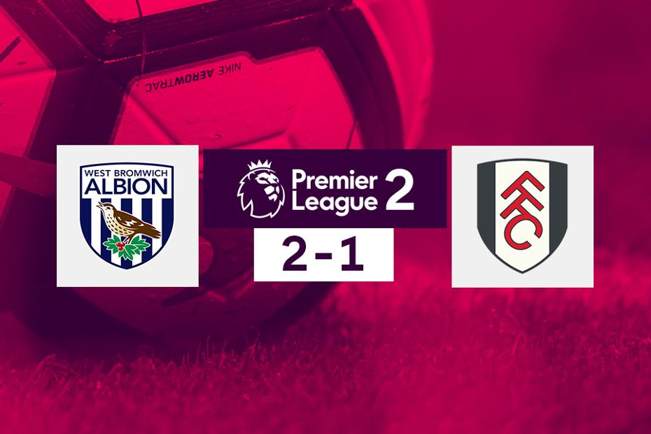 West Brom v Fulham, PL2 graphic
