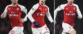 Jack Wilshere, Granit Xhaka and Aaron Ramsey, Arsenal