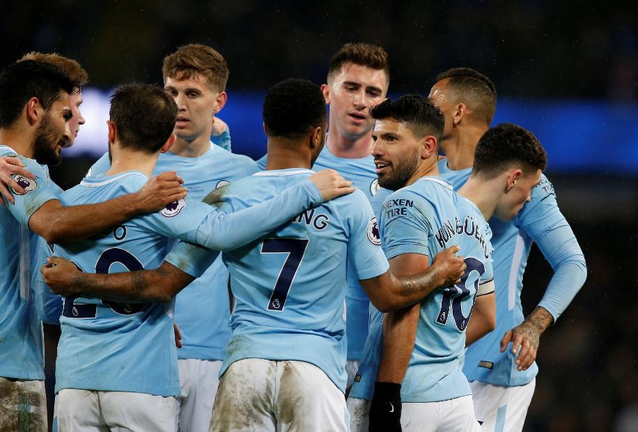 Sergio Aguero - Manchester City v Leicester City