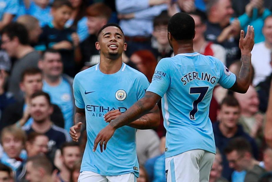 Jesus and Sterling, Man City