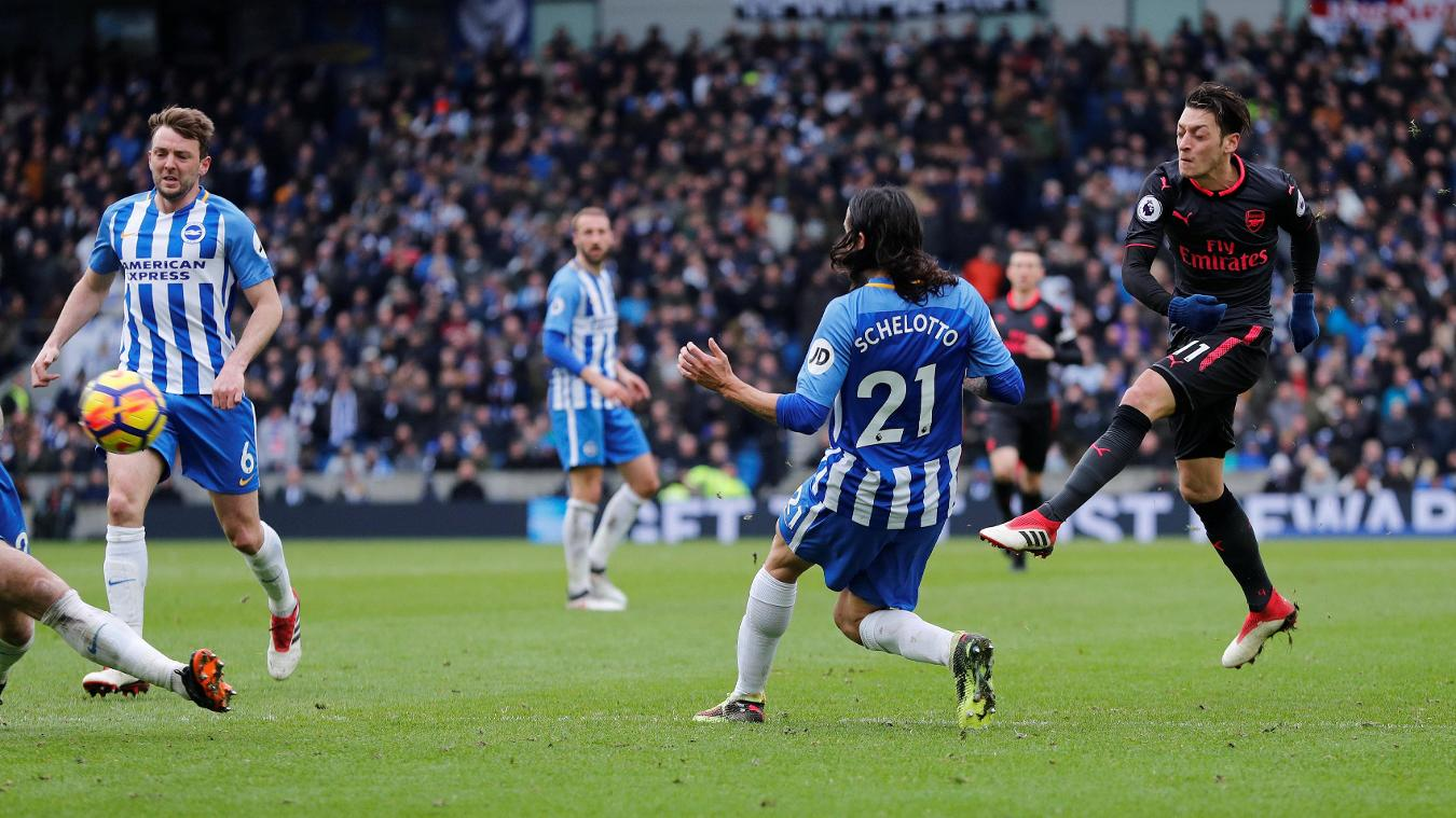 Brighton & Hove Albion 2-1 Arsenal