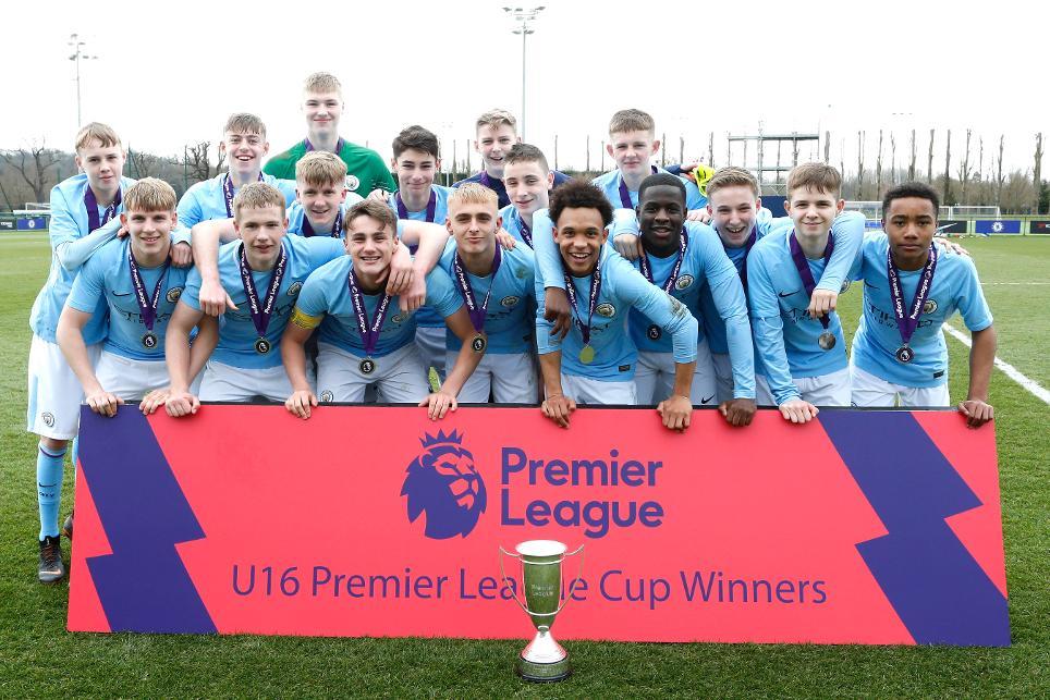2017/18 Under-16 Premier League Cup champions Manchester City