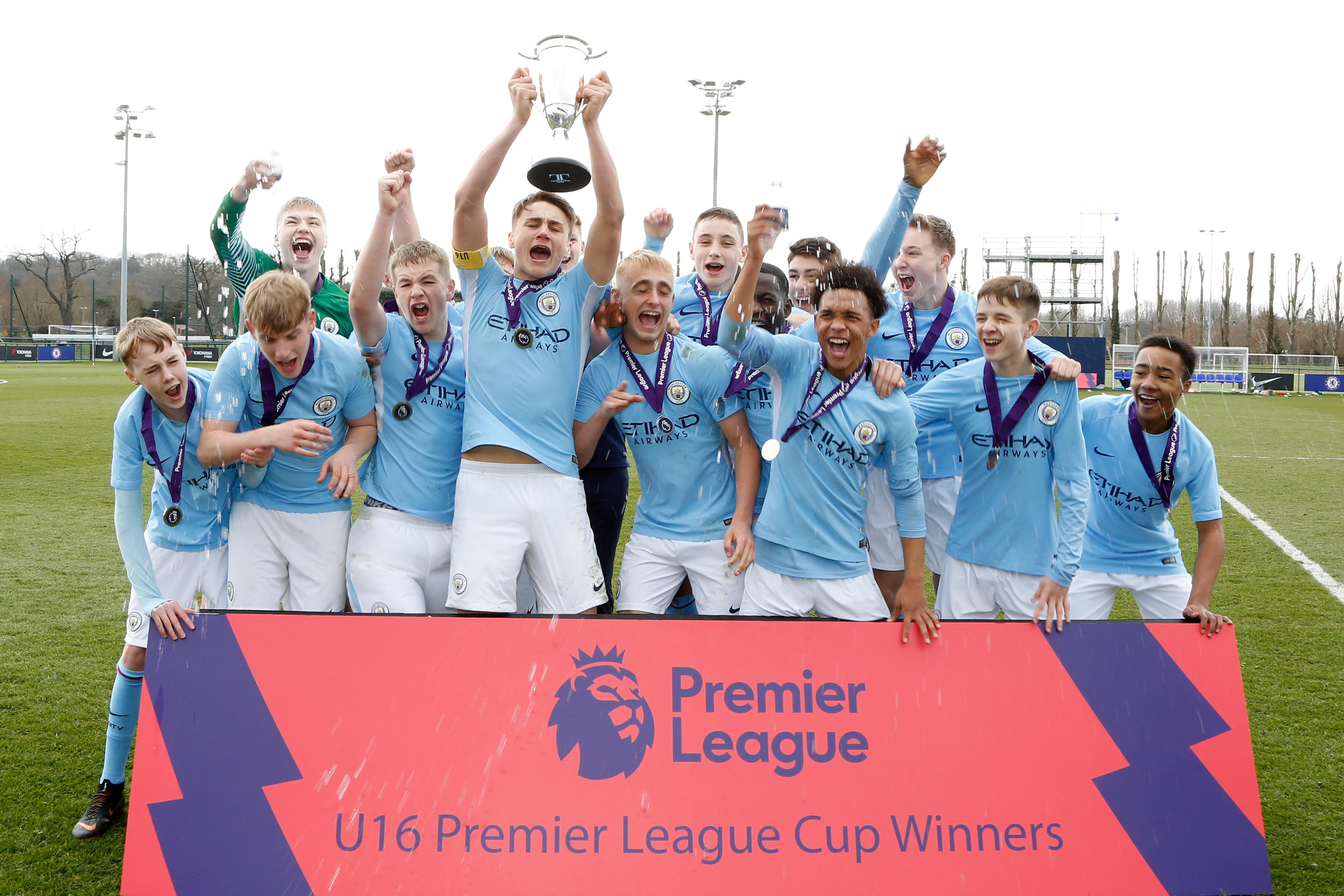 Man City lift U16 PL Cup after goal in last minute
