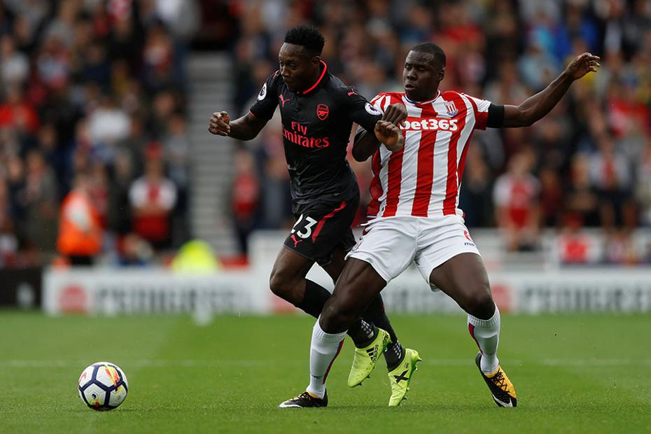 Iwobi Benched, Aubameyang Bags Brace As Arsenal Ease Past Stoke