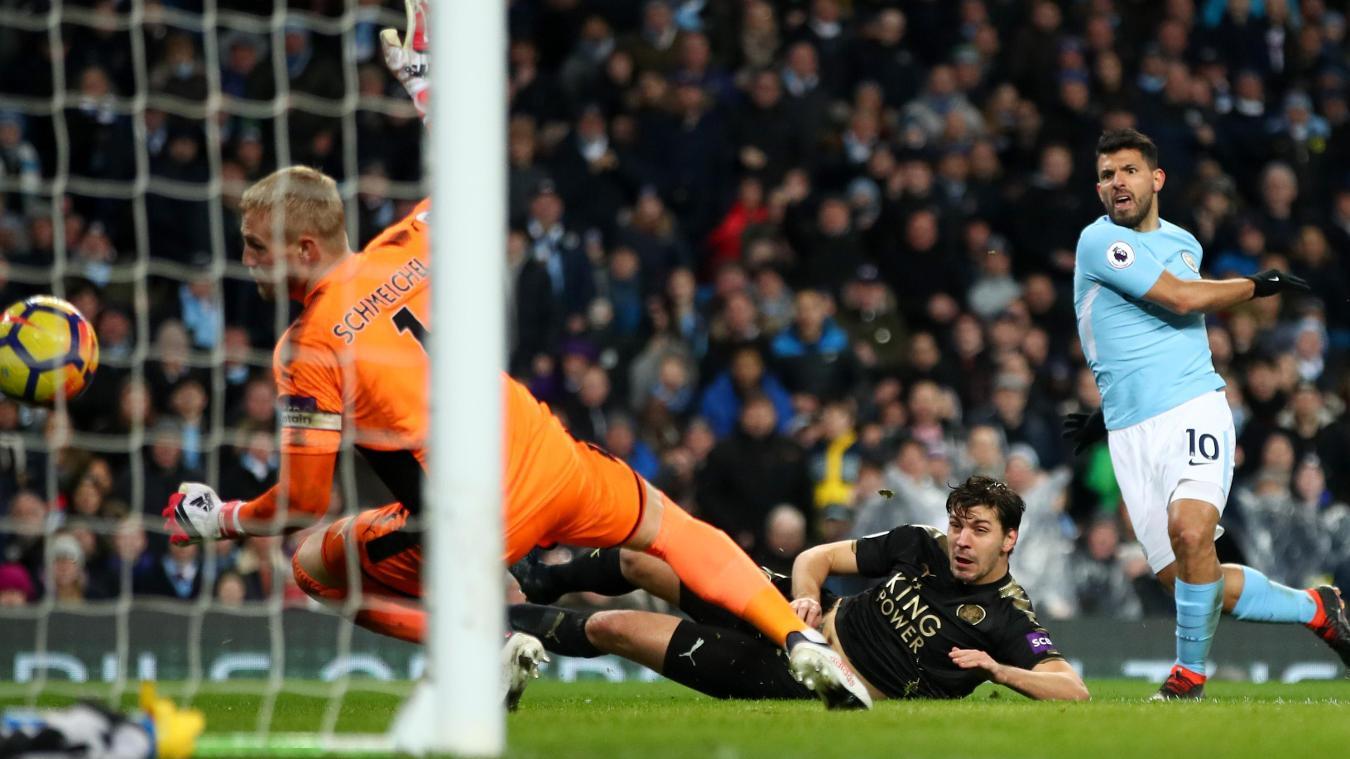Sergio Aguero v Leicester City