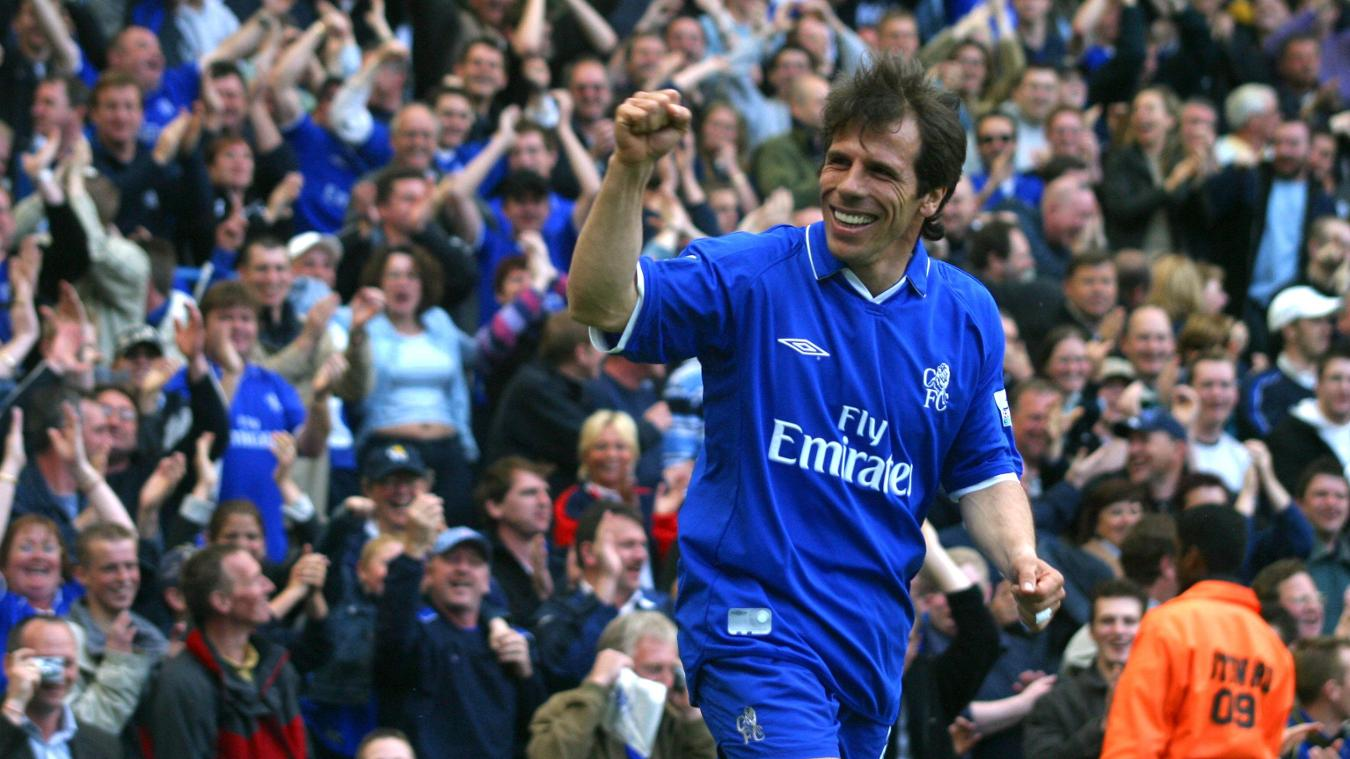 Gianfranco Zola, Chelsea celebration in 2002/03