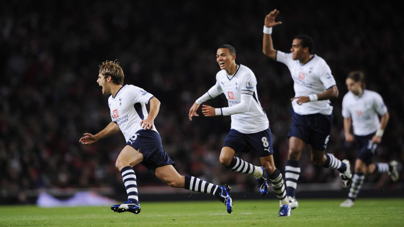 David Bentley, Spurs celebration in 2008/09