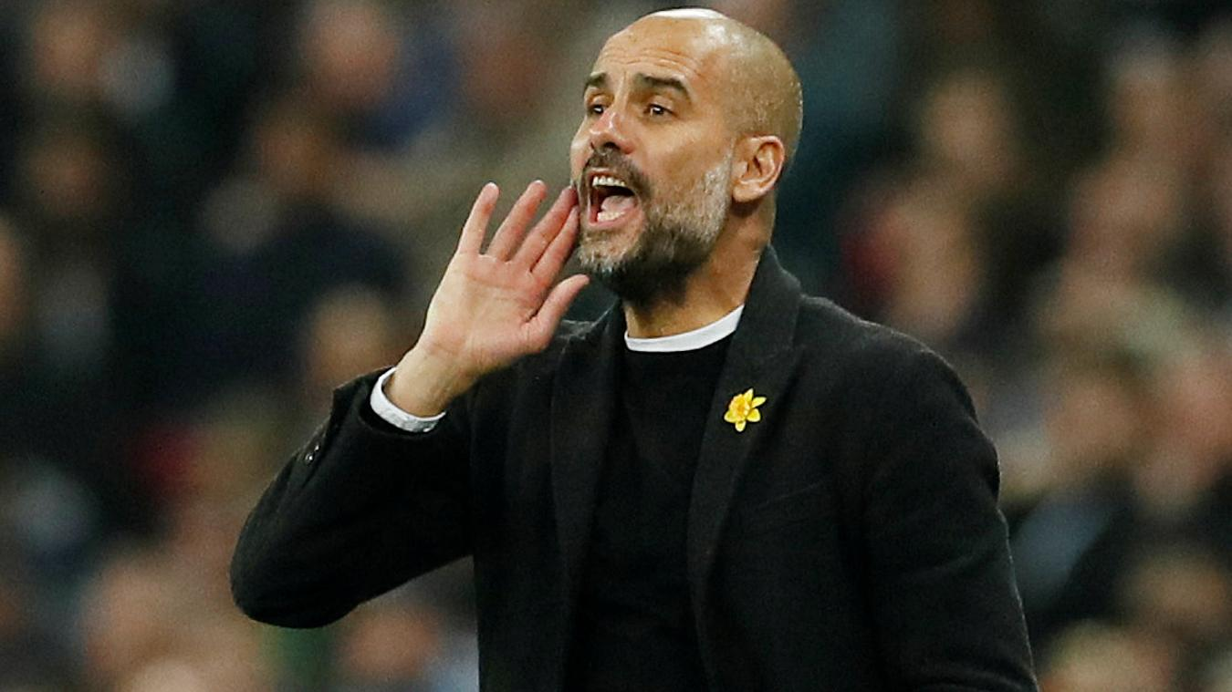 Pep Guardiola - Tottenham Hotspur v Manchester City
