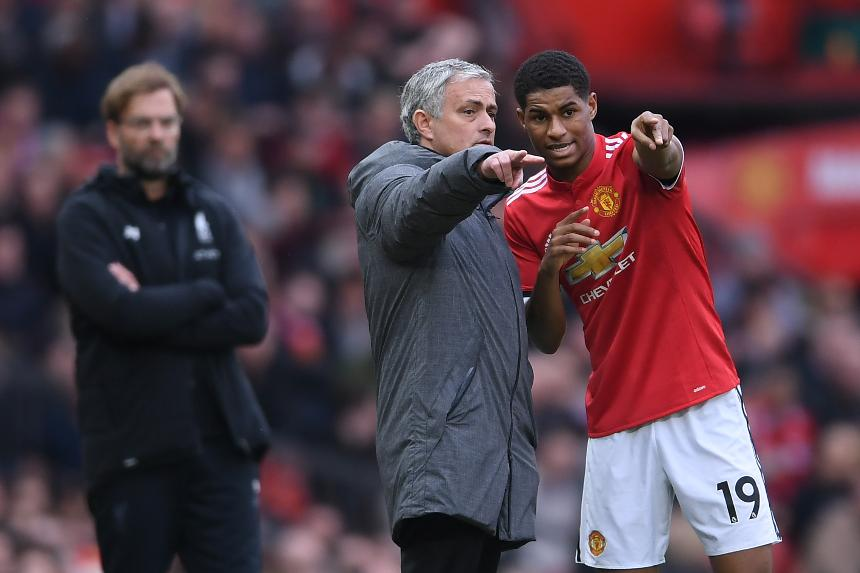 Jose Mourinho and Marcus Rashford, Man Utd
