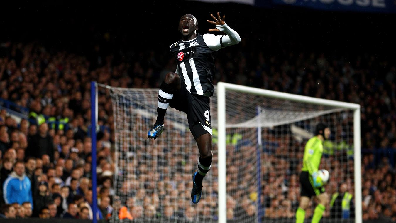 Papiss Cisse, Newcastle celebration in 2011/12