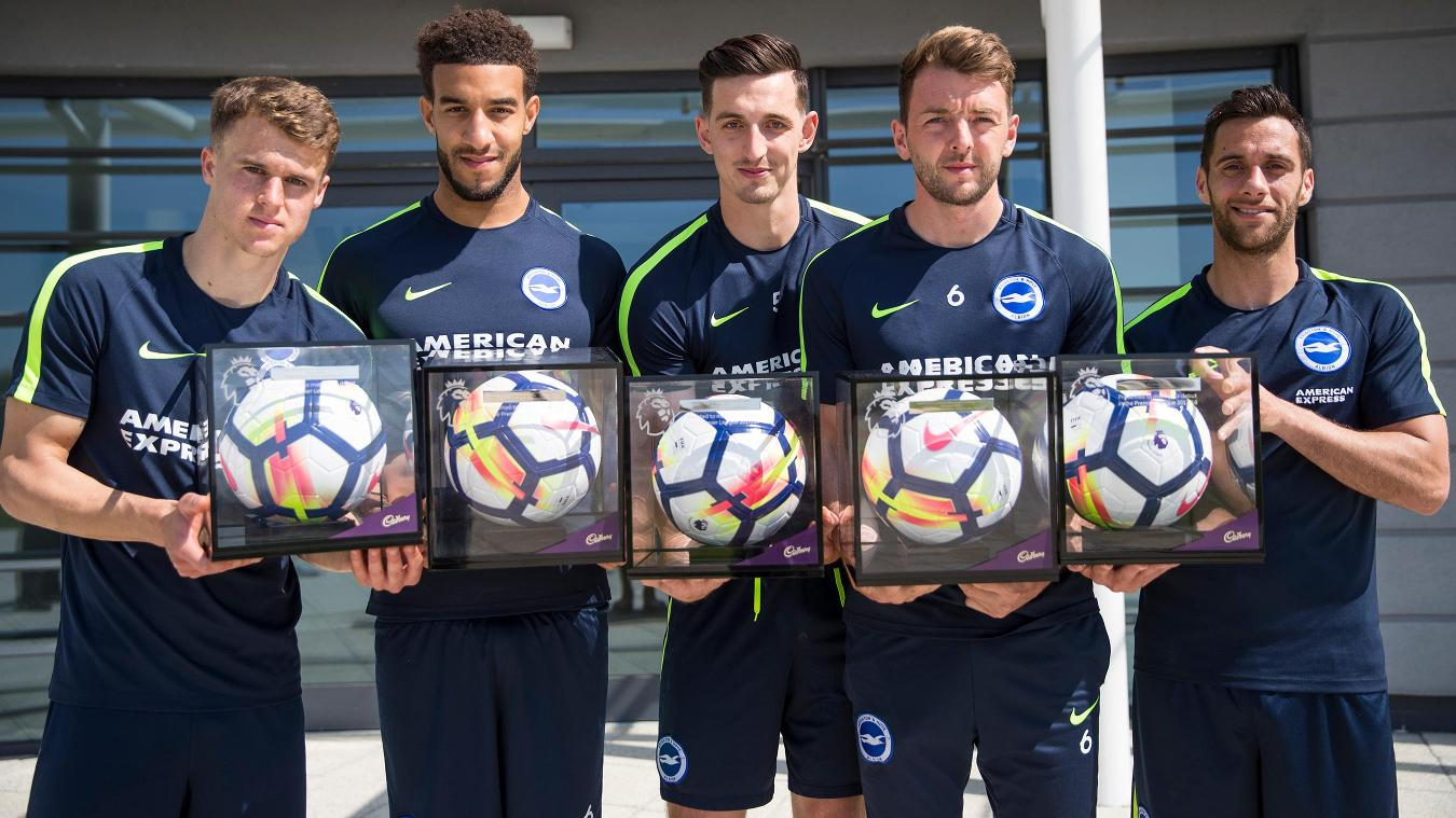 Brighton's Premier League Debut Ball recipients