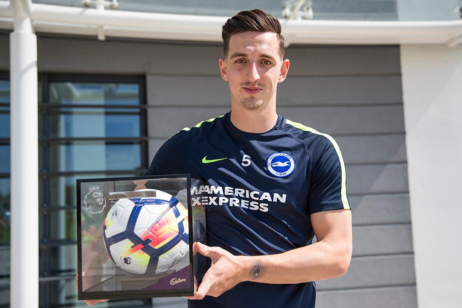 Lewis Dunk with his Premier League Debut Ball