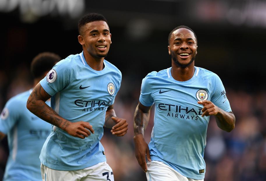 Gabriel Jesus and Raheem Sterling, Man City