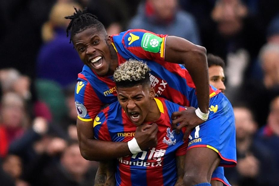Wilfried Zaha and Patrick van Aanholt, Crystal Palace
