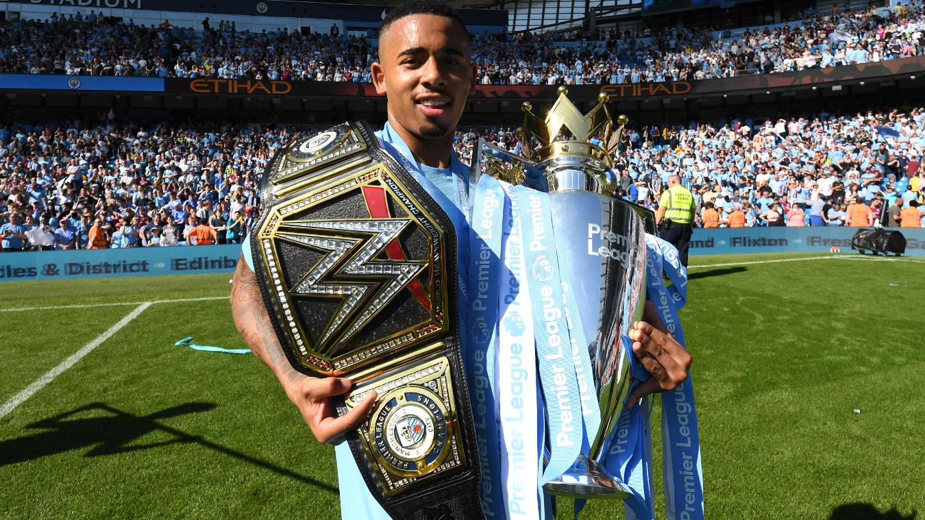 Manchester City lift Premier League Trophy