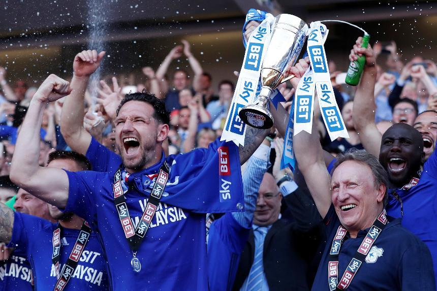 Cardiff celebrate promotion