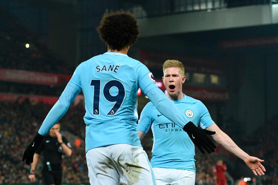 2236cd92135a De Bruyne and Sane chase Playmaker award