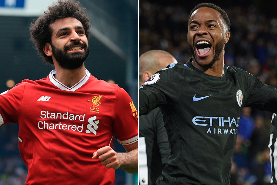 Mohamed Salah and Raheem Sterling