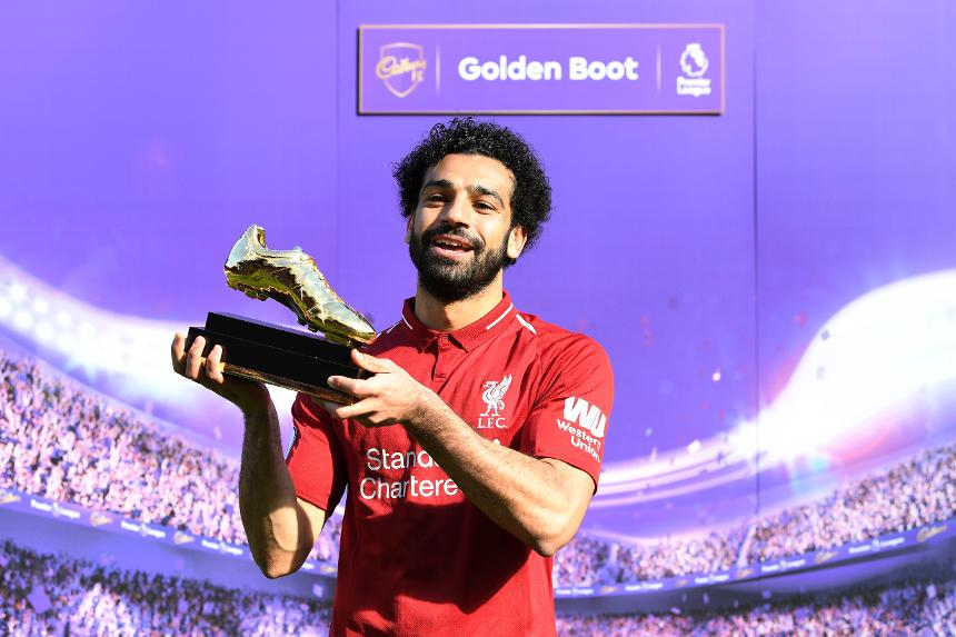Liverpool v Brighton & Hove Albion - Mohamed Salah with the Golden Boot