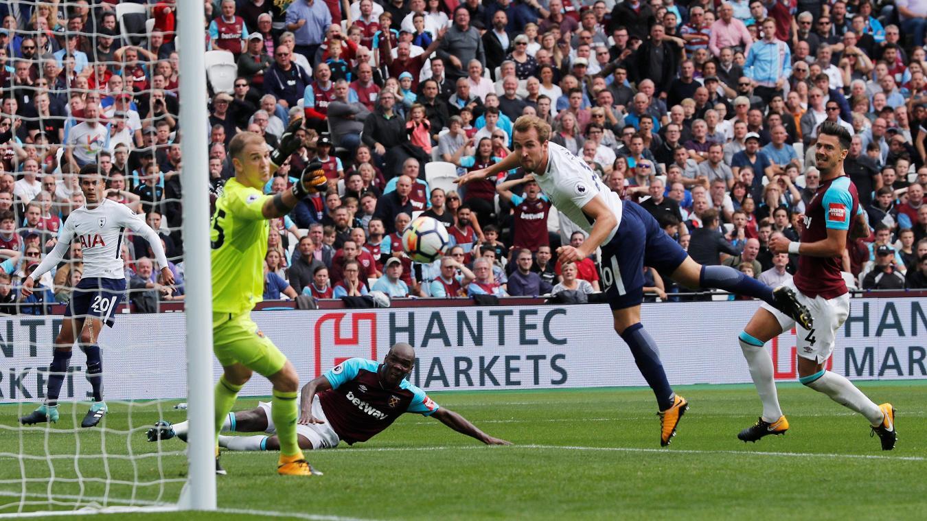Harry Kane breaks the deadlock with a close-range header