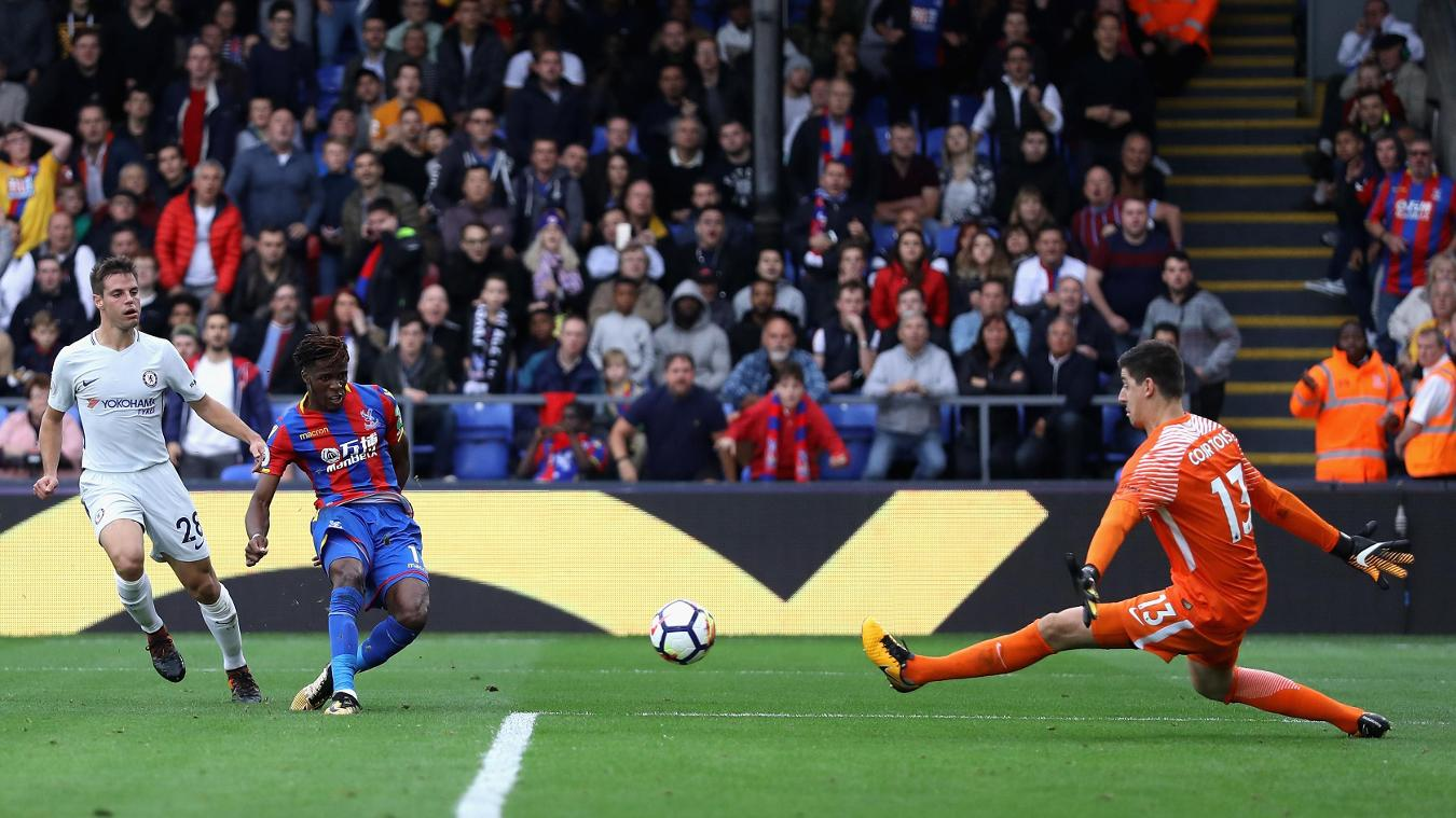 Zaha scores Crystal Palace's second goal