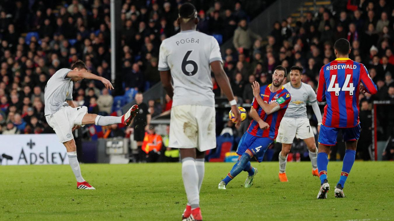 Nemanja Matic unleashes a rising drive to win the match at the death