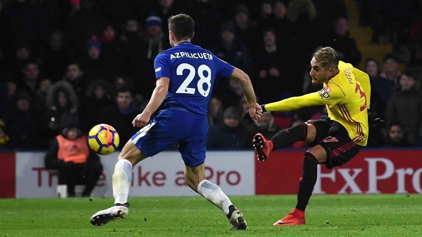 Roberto Pereyra scores Watford's fourth goal in stoppage-time