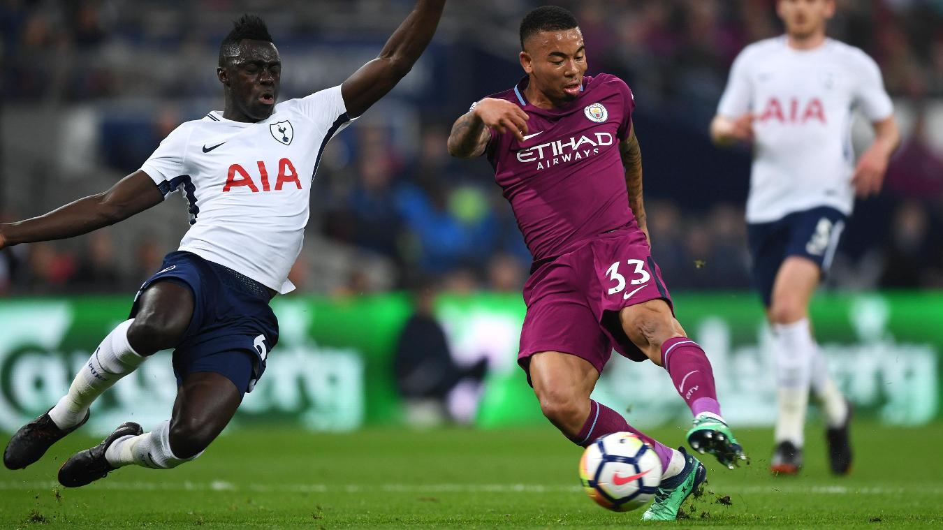 Gabriel Jesus gives Manchester City their breakthrough despite pressure from Davinson Sanchez