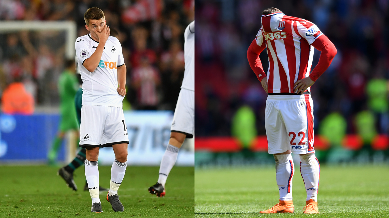 Tom Carroll, Swansea City and Xherdan Shaqiri, Stoke City in 2017/18
