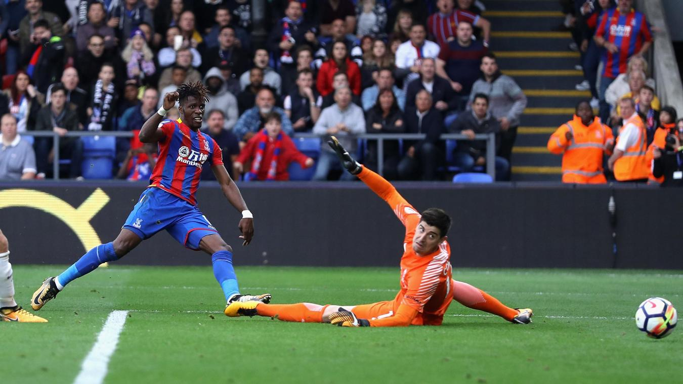 Wilfried Zaha, Crystal Palace goal in 2017/18