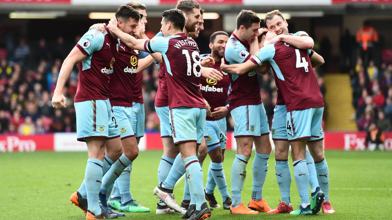Burnley celebration in 2017/18