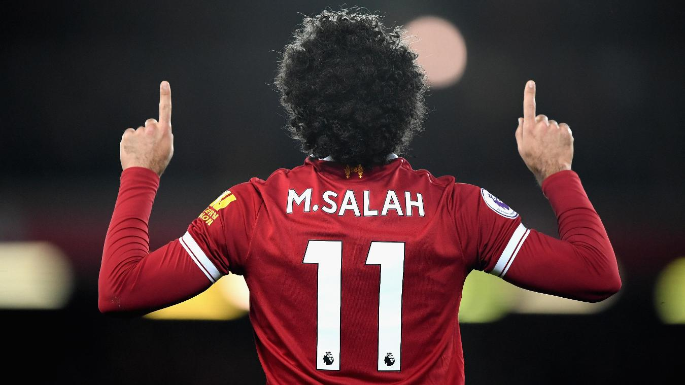 Mohamed Salah, Liverpool celebration in 2017/18