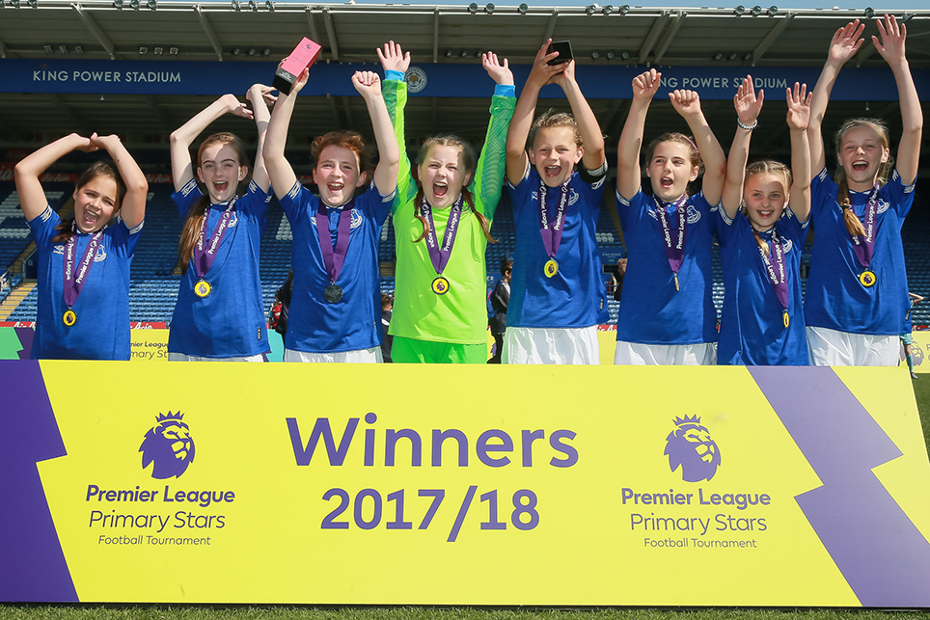 Everton celebrate, PL Primary Stars Football Tournament 2018