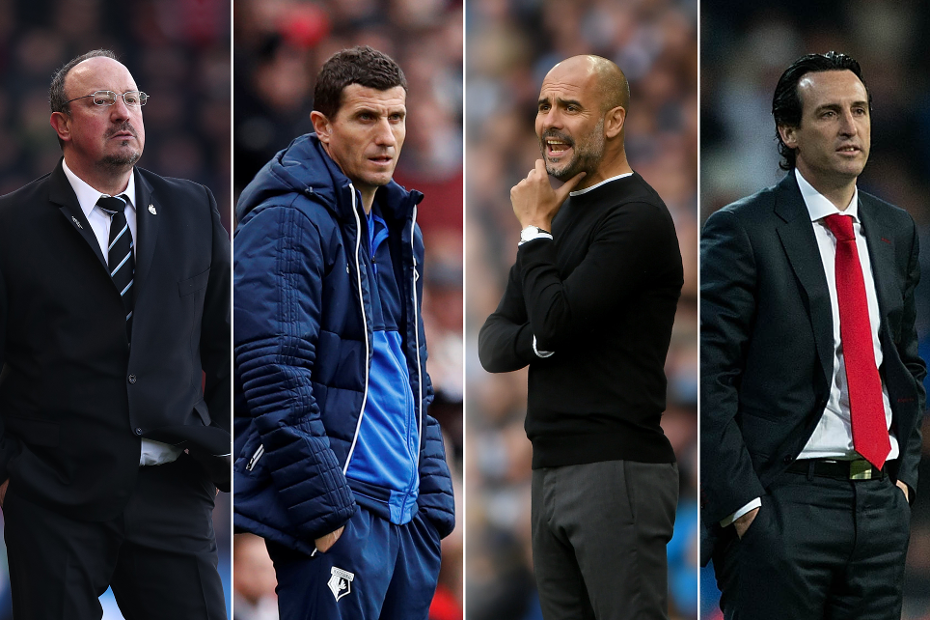Rafa Benitez, Javi Gracia, Pep Guardiola and Unai Emery