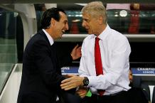 Unai Emery and Arsene Wenger
