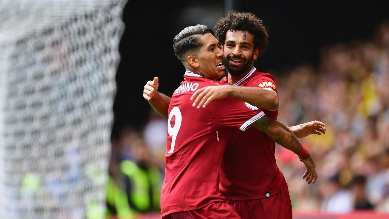 Robert Firmino and Mohamed Salah, Liverpool