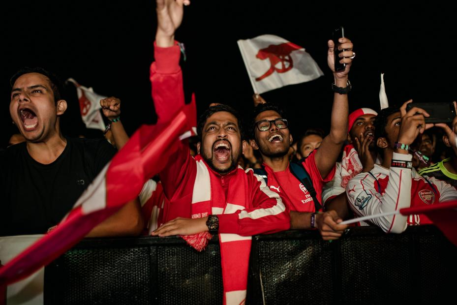 Arsenal fans, Premier League Live, Bengaluru