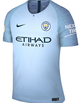 Man City home kit, 2018-19